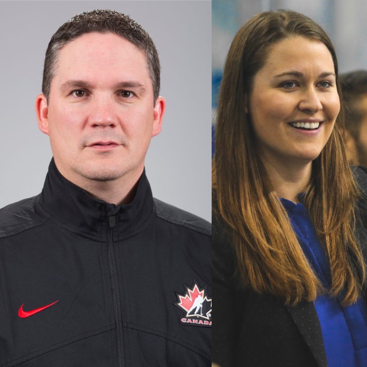 Good luck to Spryfield's @TroyRyanHockey (head coach) and New Glasgow's @koricheverie (assistant coach) who will be behind the bench of Team  during the remainder of the #RivalrySeries.   We're proud of you both. #nsproud <br>http://pic.twitter.com/EeM8BsavW3