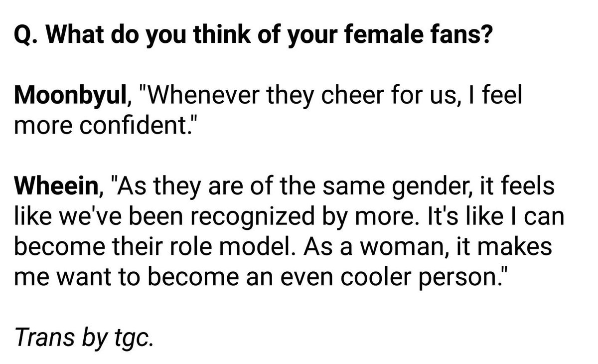 This is how they feel about having many female fans, they see us as their source of confidence and they would work hard to be our role models, and here are their female fans making them way out of characters <br>http://pic.twitter.com/V2ytnqXIGz