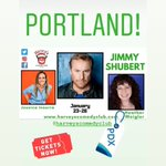 Image for the Tweet beginning: This Weekend @HarveyComedyPDX festivities starts