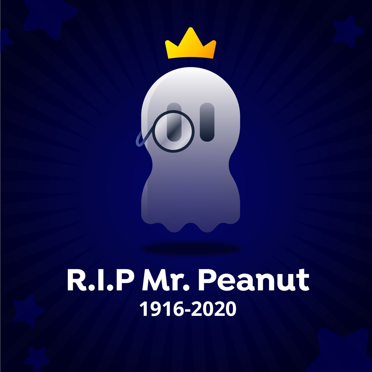 Our deepest condolences to the family of @MrPeanut we truly lost a good one! #RIPMrPeanut #rippeanut
