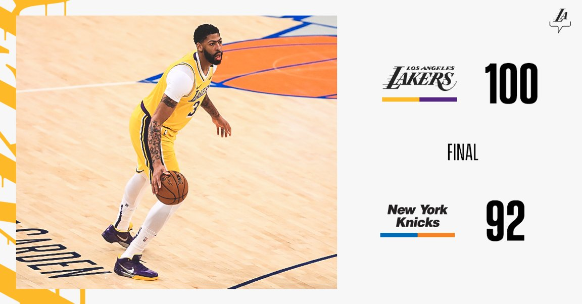 Act 1 of the New York tour is complete. #LakersWin<br>http://pic.twitter.com/j9QcLYdJzO