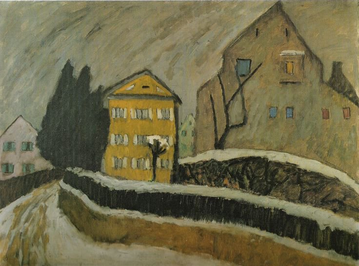 German Expressionist painter Gabriele Munter, The Yellow House, 1911 #womensart <br>http://pic.twitter.com/bAwOWacbb2