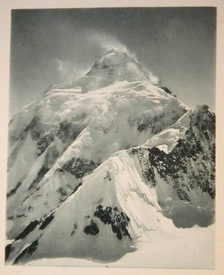 🏔 Mt K2 (8611m) back in 1909 AD.  #k2 #8611m #chhogori #k2peak #pakistan #k2_8611m #8611 #K2Mountain #karakorum #baltoro
