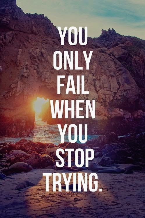 You only fail when you stop trying.  #InspirationalQuotes #MotivationalQuotes<br>http://pic.twitter.com/H5a70ePWfL