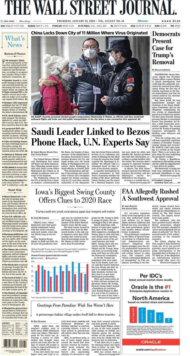 Take an early look at the front page of The Wall Street Journal on.wsj.com/2TPBo0k