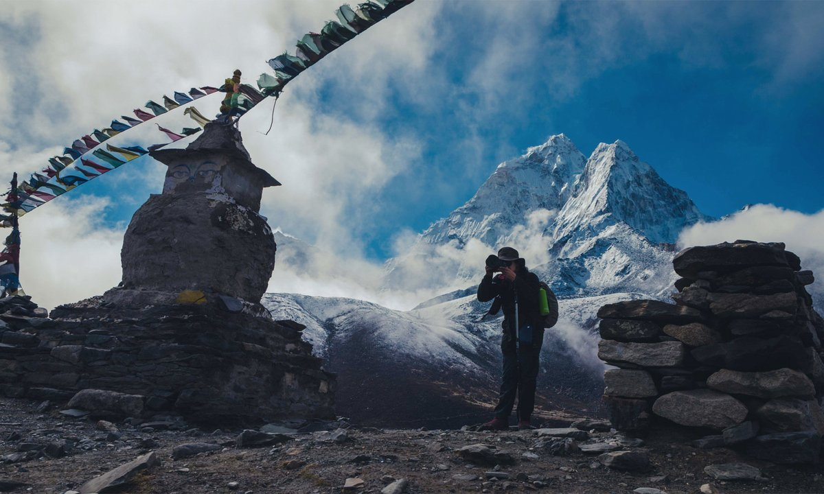 A picture speaks a thousand words! Check out the view of Mount #AmaDablam from a different perspective, captured en route to the #EverestBaseCamp.Photo Credit: Robic Upadhyay#VisitNepal2020 #LifeTimeExperiences #OnceIsNotEnough #Nepal #NepalNOW #TravelNepal #Trekking #VNY2020