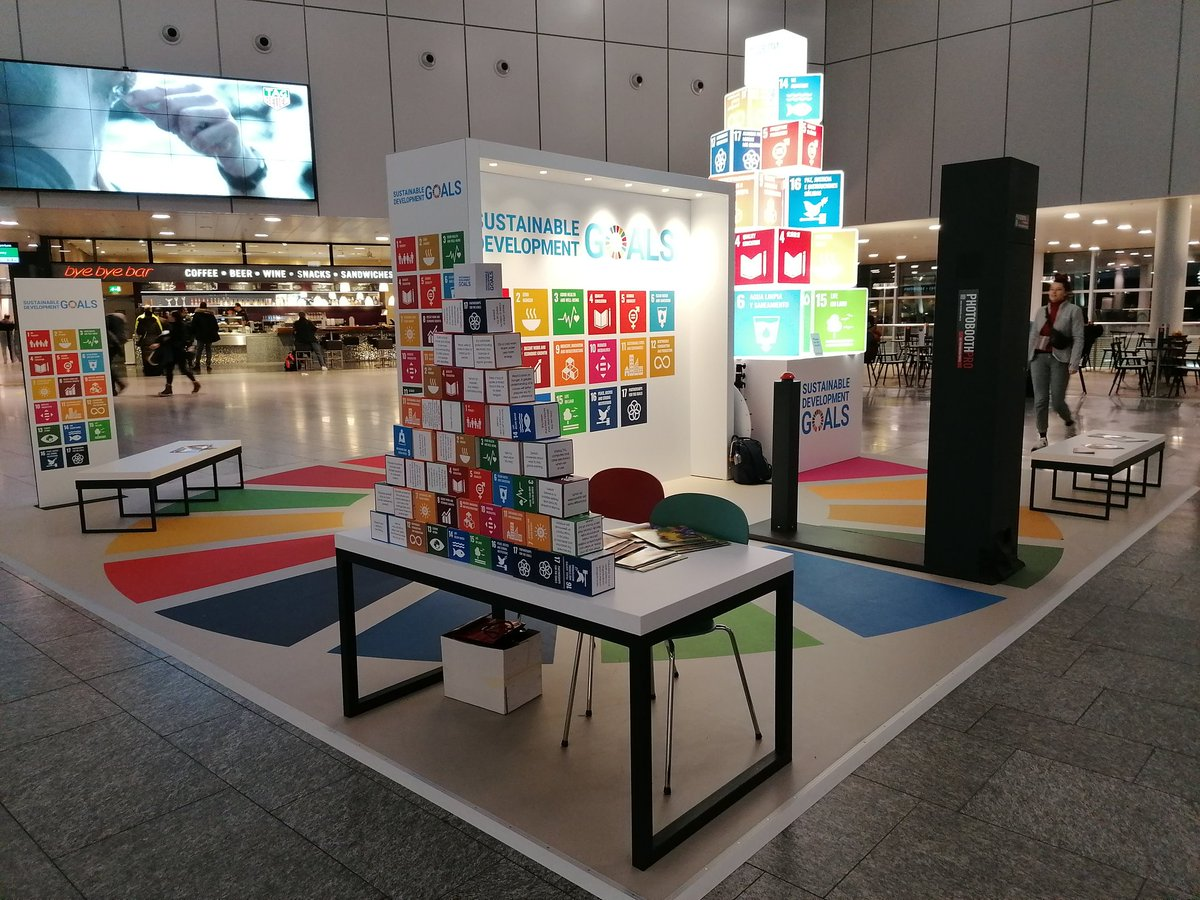 Great yo see SDGs displayed at Zurich Airport! #SDGs #sustainable #development #goals @TeachSDGs