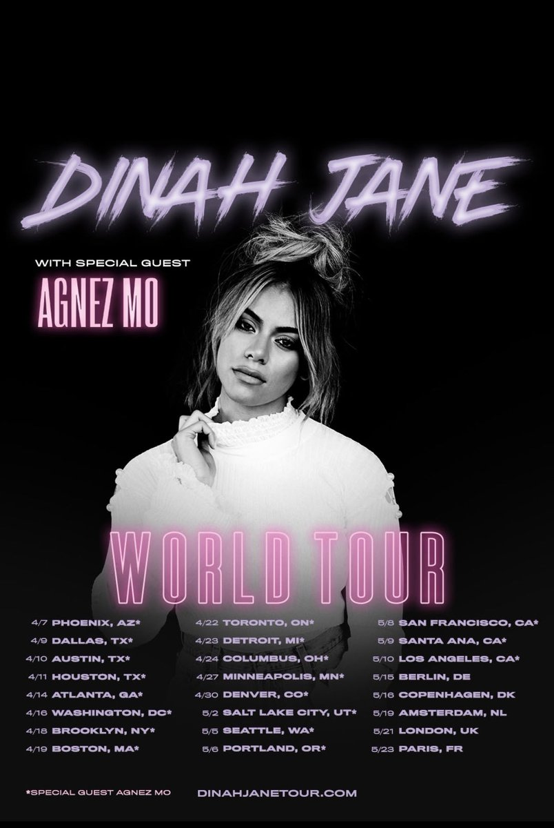 The Journey Continues... It's GO TIME @dinahjane97 with special guest @agnezmo .... New MUSIC on the way! 🎶 🎼 🎵 #UTAMusic #DINAHJANE #AGNATION 🌎 Tour....