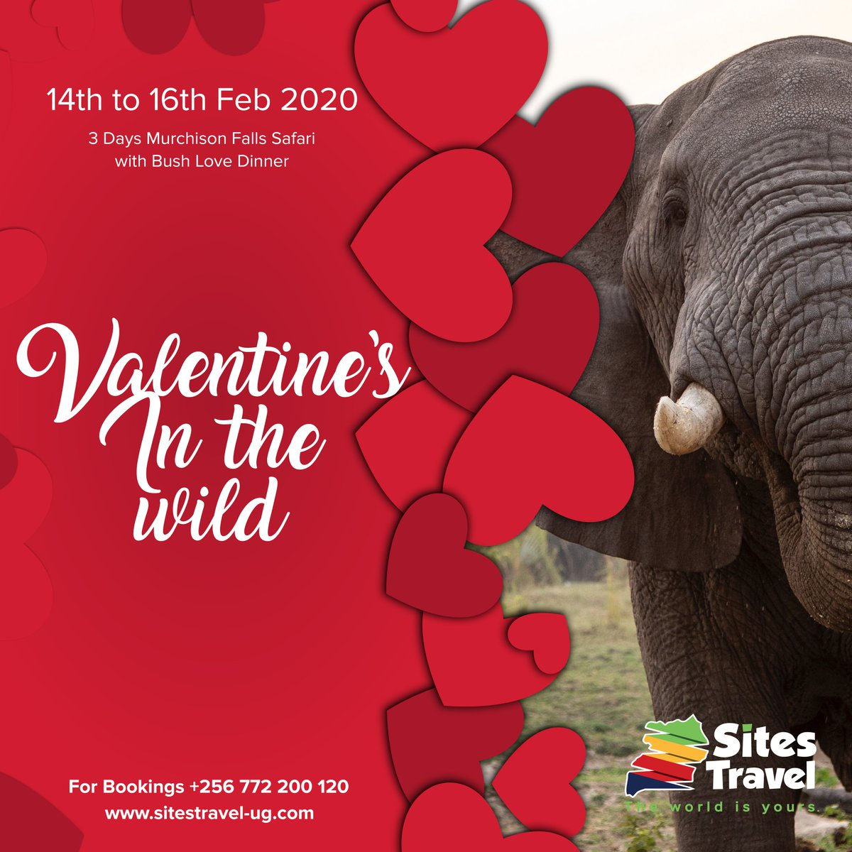 A romantic trip to Murchison falls National Park with a brief stop at Ziwa Rhino sanctuary, a morning game drive, afternoon boat cruise with a romantic bush dinner at Kabalega Wilderness Lodge awaits you and yours this love season. #TheWorldIsYours reservations@sitestravel-ug.com <br>http://pic.twitter.com/tOGaPOJbqX