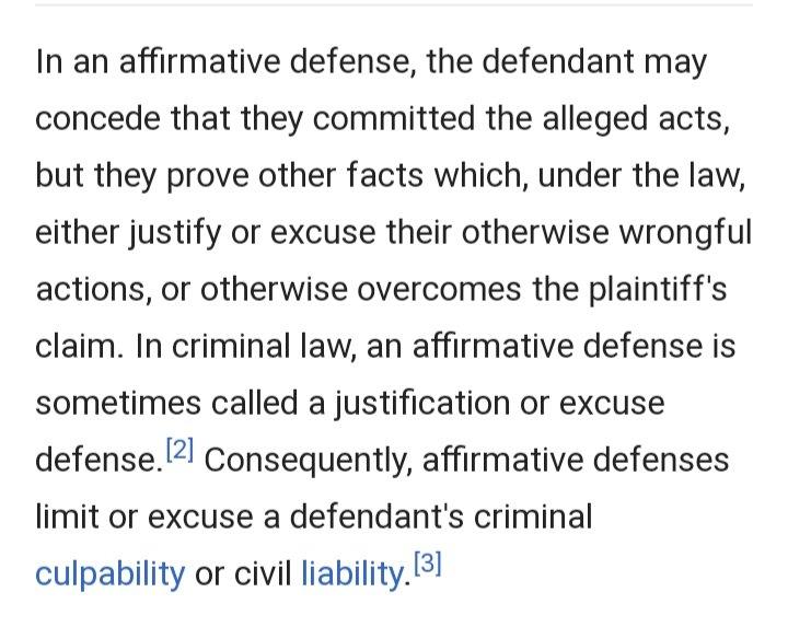 Will Trump raise an affirmative defense?? I believe he will!