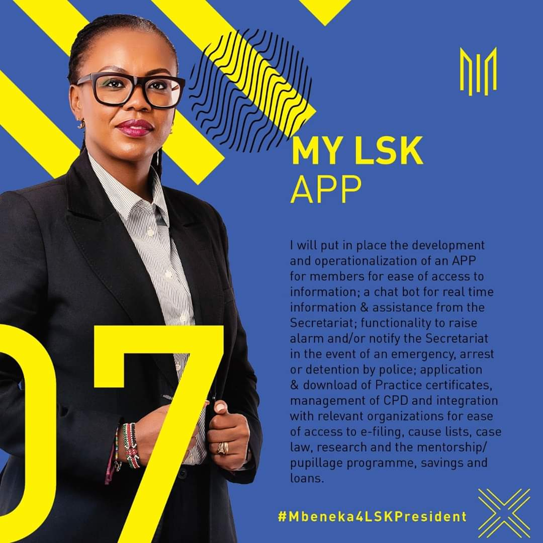 "When it comes to life ""My LSK App"" will arguably be the best thing that has ever happened to @lawsocietykenya. Innovation is progress. Progress is growth. #mbeneka4lskpresident<br>http://pic.twitter.com/XrdM8nWRdZ"