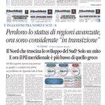 Image for the Tweet beginning: Il Sud si allarga @tweetelex