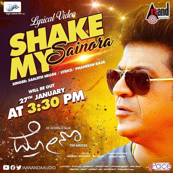 "#Drona Movie 2nd Single Lyrical Song ""Shake My Saionara"" Releasing On 27th 3:30pm @ @aanandaaudio youtube channel. #Shivanna #DrShivaRajkumar #HatrickHero #BossofSandalwoodDrShivanna"