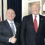 Image for the Tweet beginning: Trump again denies knowing Lev