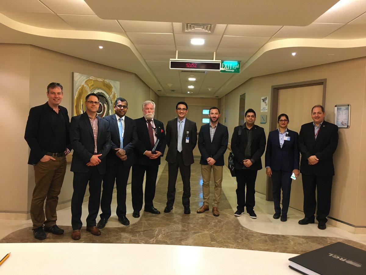 Visite de la mission de santé de l'Ontario au Koweït à l'hôpital international Al Salam. @ontario_SDC  @ongouv @Raed_Bishara