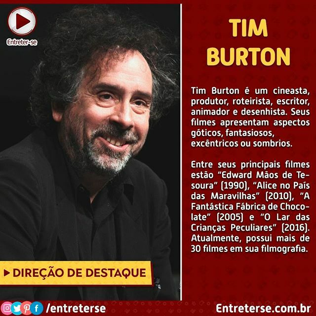 Qual é o seu filme preferido de Tim Burton? . . . . . #timburton #direção #cine #cinema #obra #filme #filmes #filmemacher #filmebrasileiro #filmebom #filmeffect #filmesnetflix #FilmEmulation #filmeveryday #filmeverydamnday #filmeextraordinario #filmesbrasileiros #filmesdetir…pic.twitter.com/j1630gzeHO