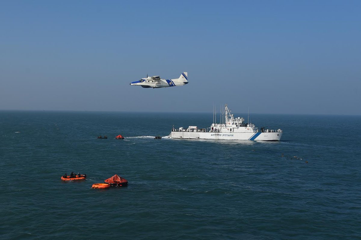 Indian coast guard conducts maritime search and rescue exercise Re-SAREX- 2020 on Gujarat coast