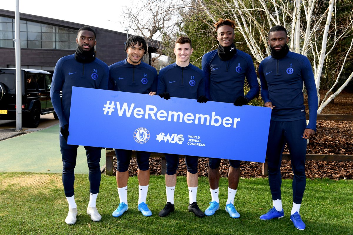 Players from throughout the club have shown their support for the @worldjewishcong #WeRemember campaign ahead of International Holocaust Remembrance Day. This is part of our #SayNoToAntisemitism campaign - educating our players, staff, fans and the community about antisemitism.