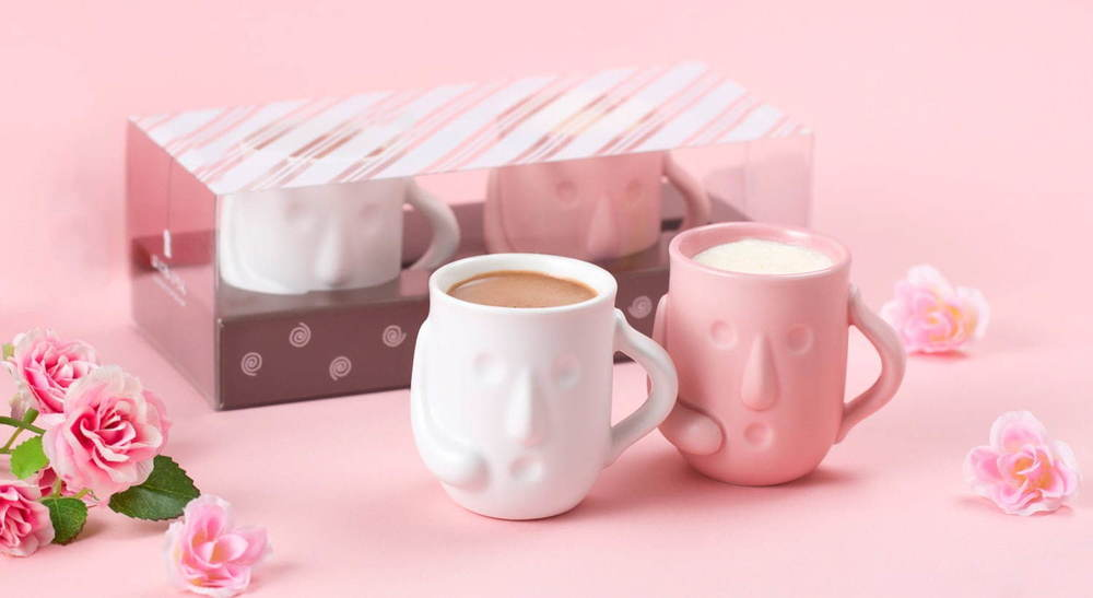 """「はにわぷりん」バレンタイン限定の濃厚チョコ味、ピンク&白の限定""""はにわ""""で大阪発売 -"""
