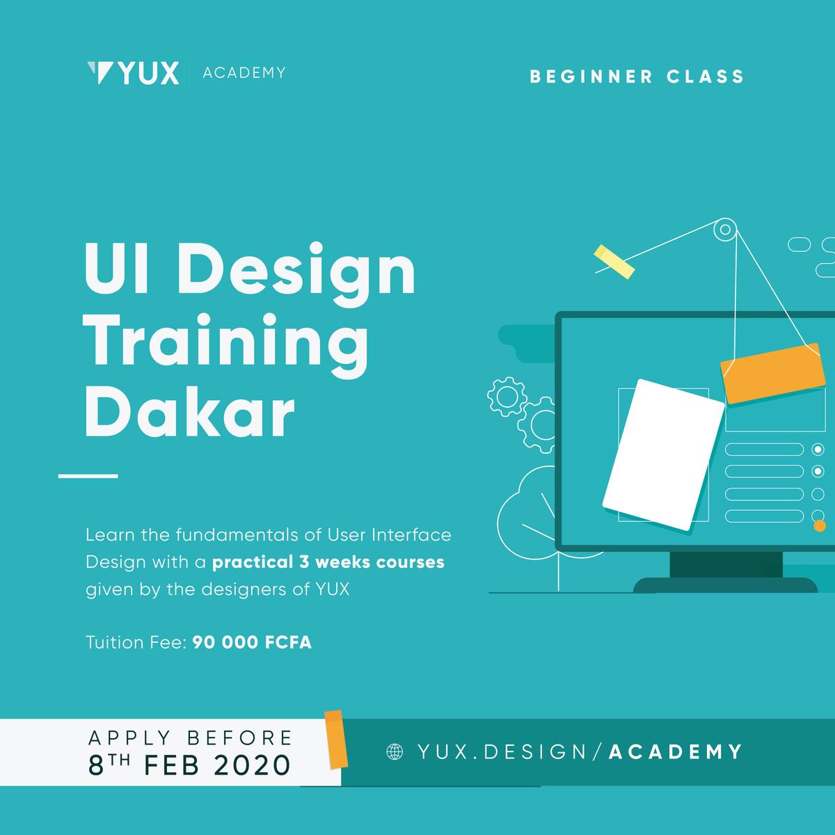 [FORMATION] Souhaitez-vous ajouter UI design à votre socle de compétences? Alors postulez ici 😎https://yux.design/academy#UX #UI #DESIGN #TRAINING #FORMATION #UXDESIGN #DESIGNERS #DAKAR #SENEGAL #AFRIQUE