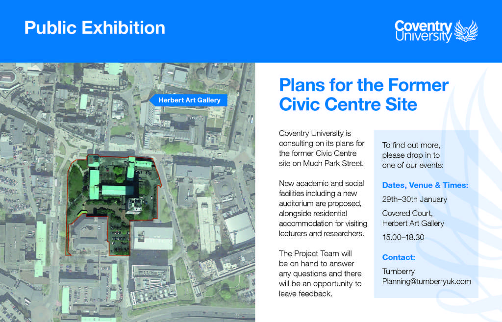 Consultation on the Plans for the former Civic Centre Site. news.coventrysociety.org.uk/2020/01/23/con…