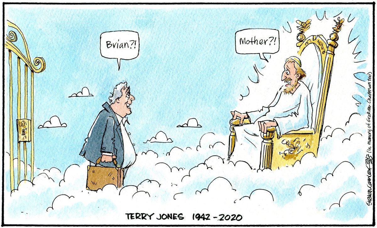 The best tribute to the late great #TerryJones I've seen over the last 24 hours.