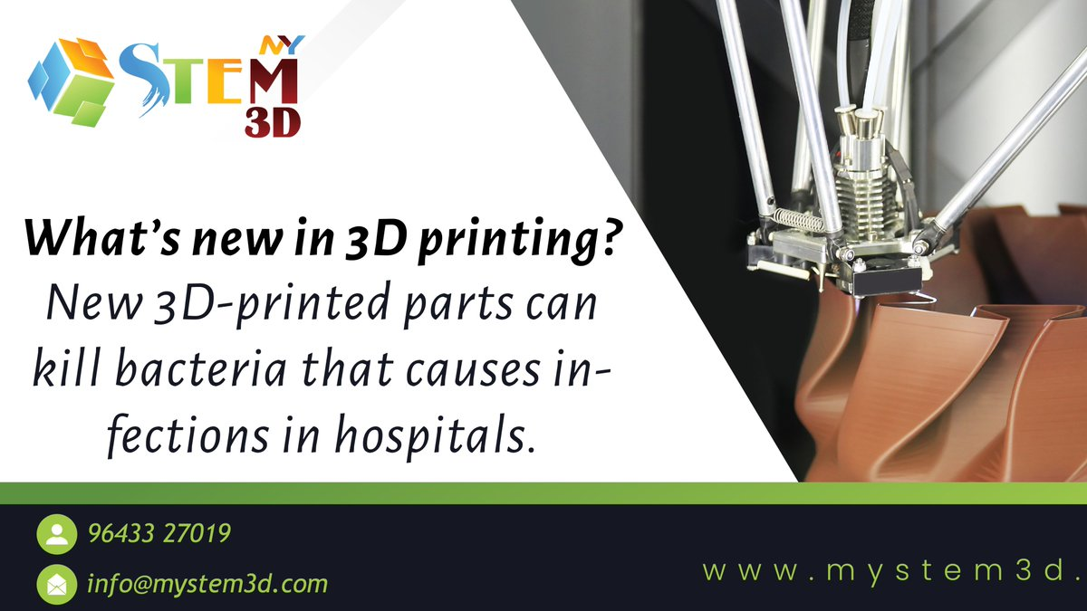 #Scientists from the University of Sheffield have created #3DPrintedparts that can prevent the spread of #MRSA and other infections in #MedicalCare facilities like #hospitals and nursing homes, which is expected to save the lives of vulnerable patients. #ThursdayThoughts