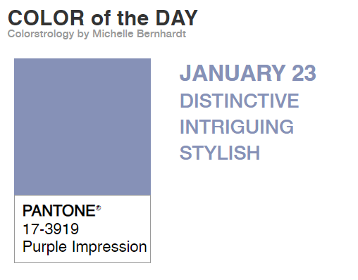 Todays colour of the day is... Purple Impression! Does the description remind you of anyone? #thincpurple #PantoneColouroftheDay #pantone2020