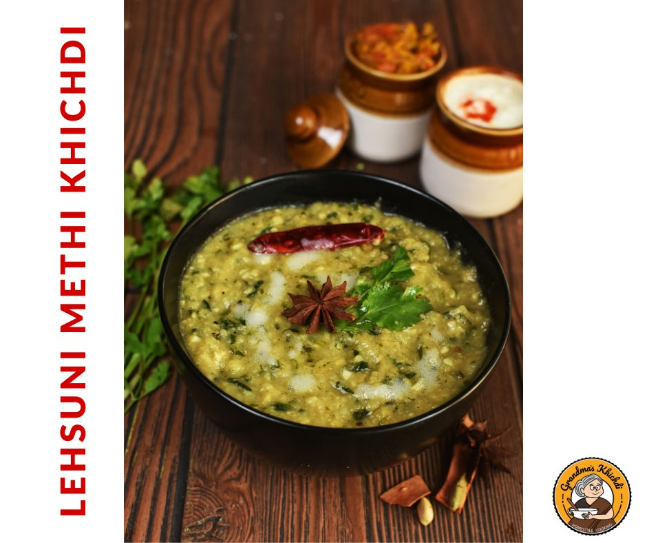 Get our winter special Lehsuni Methi Khichdi loaded with Ghee Get a bowl full of nutrition & deliciousness only on #grandmaskhichdi  #khichdi #ghee #lehsunimethikhichdi #winterspecial <br>http://pic.twitter.com/gvCGgfZZdc