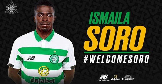 Football | Mercato💶 : Ismaila SORO 🇨🇮 (21 ans) s'est engagé avec le club écossais du Celtic Glasgow. Contrat de 4 ans et demi pour le milieu ivoirien. ✍️ #Mercato  📸Celtic FC #RTISPORT