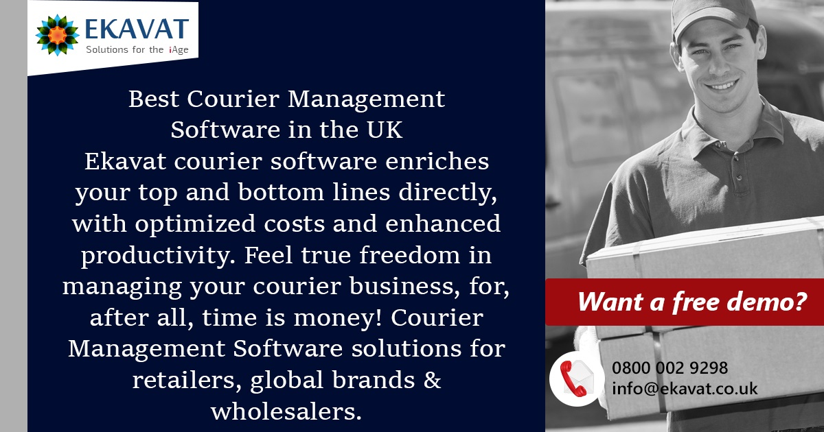 Reduce time-consuming activities managing paperwork other manual efforts–automate courier management using Ekavat's  #CourierServiceSoftware #software #pickup #CourierDeliverySoftware #CourierSoftwareUK #CourierBillingSoftware #TrendingNow #ThursdayThoughts