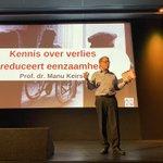 Image for the Tweet beginning: Treffende uitspraak van Professor Manu