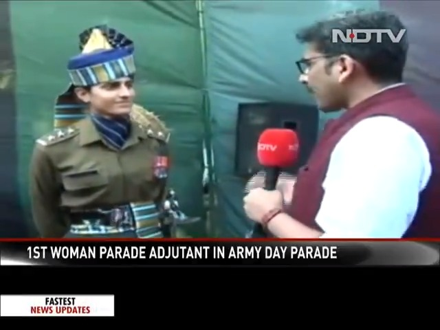 #Watch | Captain Tania Sher Gill speaks to @sanket on leading an all-men contingent at the #RepublicDay parade. Watch the full interview tonight at 9:30 pm on http://ndtv.com and NDTV 24x7