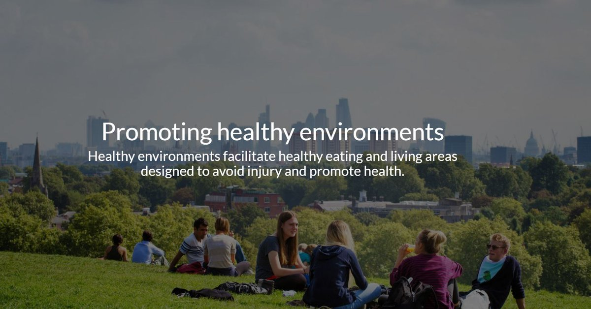 Healthy #environments facilitate healthy eating & living areas designed to avoid injury & promote health. Explore more @georgeinstitute: bit.ly/2tIMEBb #TGIimpact @JacquiWebster3 @CorinnaHawkes @BruceNeal1 @EmmaFeeny @margiepeden @JulieB_Injury @okobusingye @DrAndyHong
