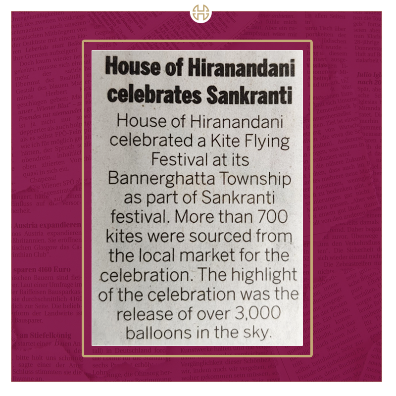 We have always strived to bring communities together through different activities and on this note we organised the #HoHKiteFest for people to enjoy the auspicious day of #MakarSankranti at #Bannerghatta, Bangalore. Click here to know what the carnival was all about.