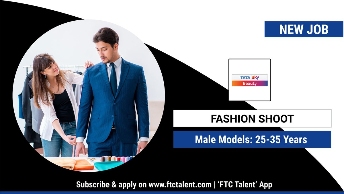 We are seeking for #MaleModels with fair complexion and good height within the age of 25 - 35 years for an upcoming #FashionShoot with celebrity stylist #AnushkaTugnait.  Web: http://www.ftctalent.com  #Modelling #Model #MaleModel #MaleModelling #Artist #Acting #Photoshootpic.twitter.com/8xotgEtviH