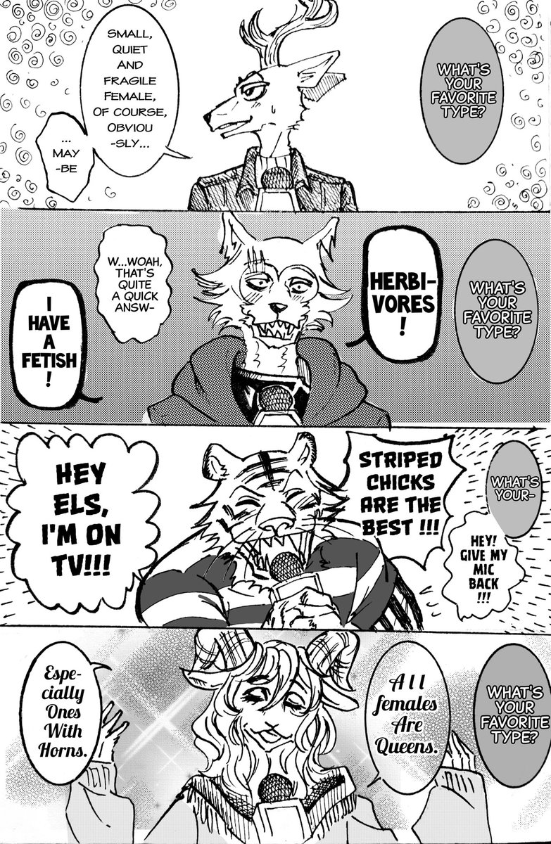 An interview with the boys. #BEASTARS #beastarsfanart<br>http://pic.twitter.com/sISeuA5V93