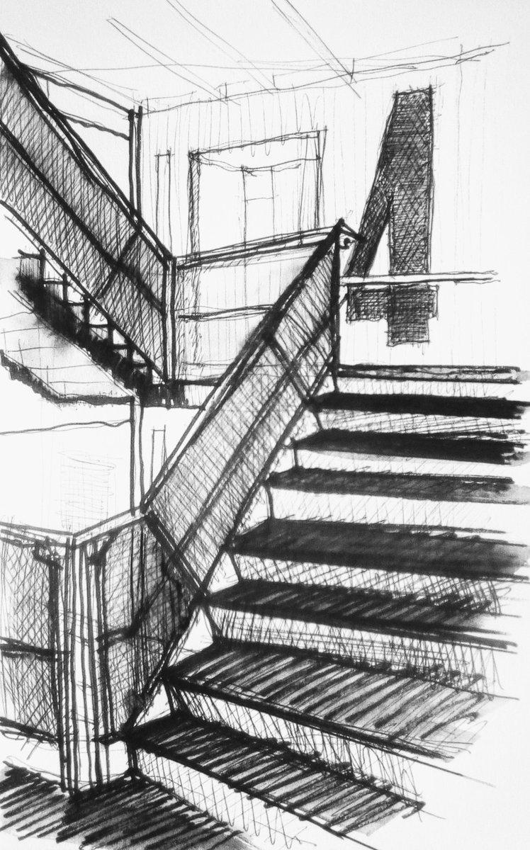 Level 4, Baltic Gateshead ink drawing