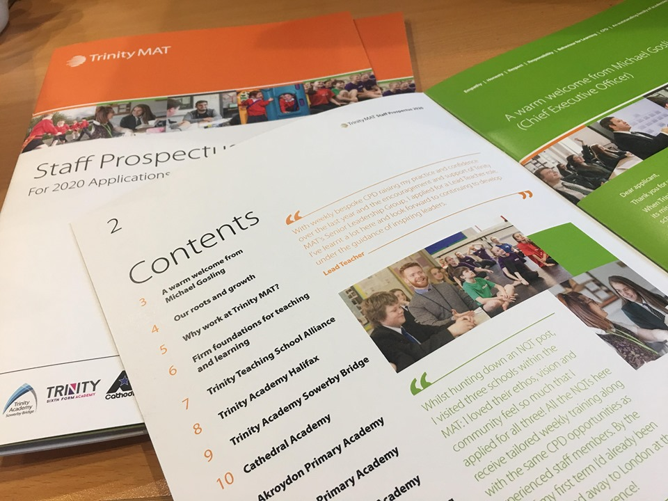 Check out the new staff prospectuses that have just arrived for the MAT recruitment event on the 29th of January!  Download your online preview - https://t.co/TpuVfpwmnB  Register to attend  - https://t.co/U7YdI7sSD4   #TeacherRecruitment #EduTwitter #Teach #Prospectus