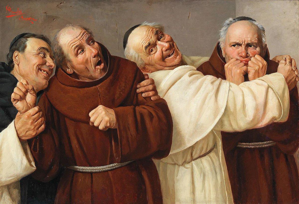 イタリアの画家クラウディオ・リナルディ(1852-1909)の描く修道士は、皆あくが強くて楽しそうである。