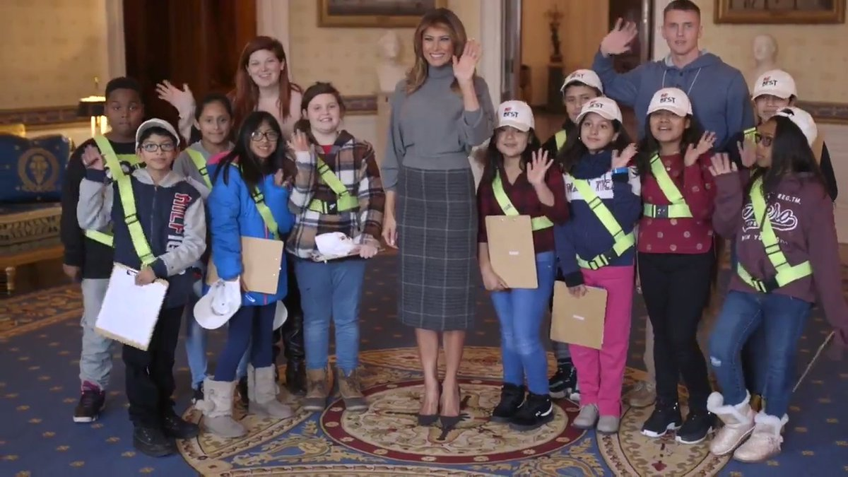 It was a joy to greet Safety Patrol students from West Gate Elementary school as they toured the @WhiteHouse  yesterday! #BeBest