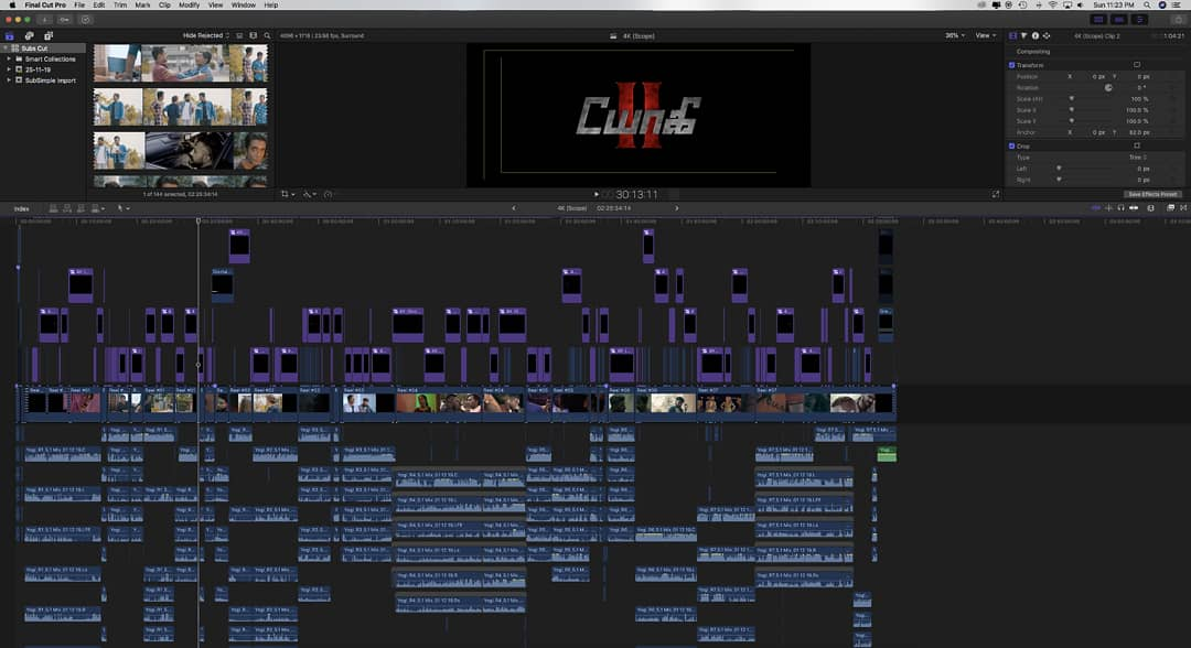 Ever wondered how the final timeline of #Yogi2 looked like? Here it is! #throwback #editing #filmedit #filmeditor #fcpxedit #fcpx #yogi2themoviepic.twitter.com/qZYgn4qfK8