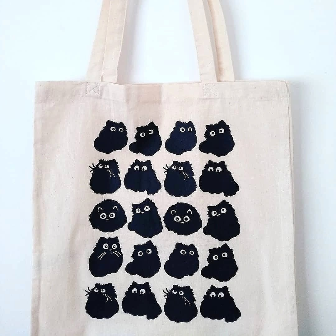 @Giraffesy Hello 👋 if you like cats this is my favorite 😺  #blackcat #catbag #nomoreplasticbags