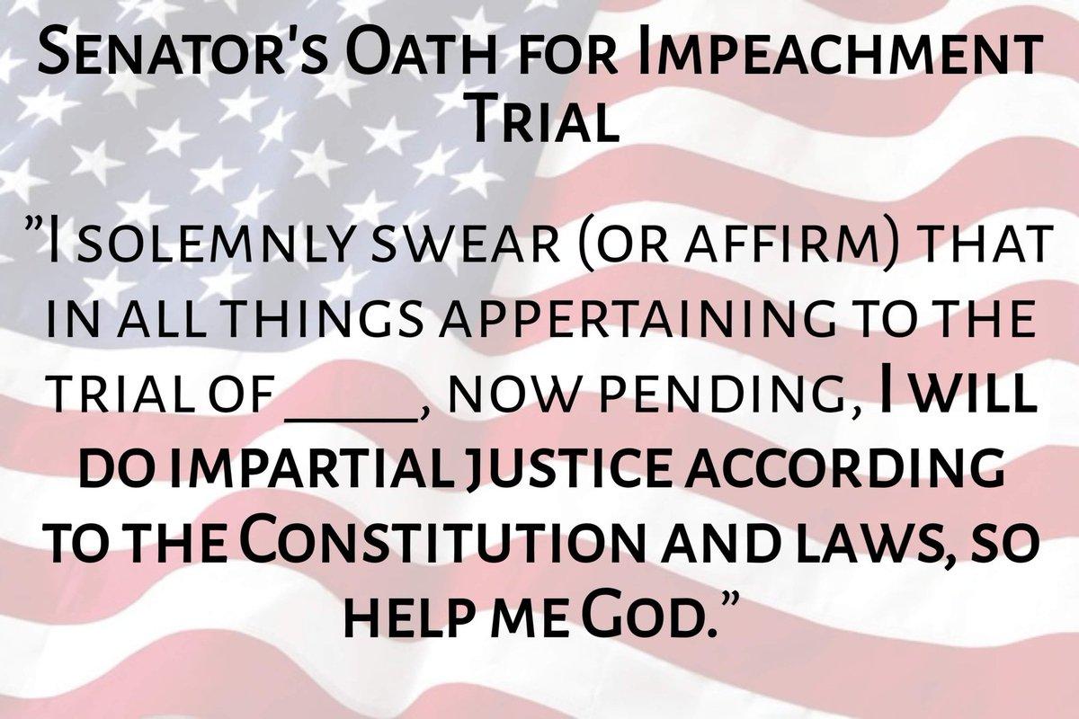 Image result for senate impeachment oath