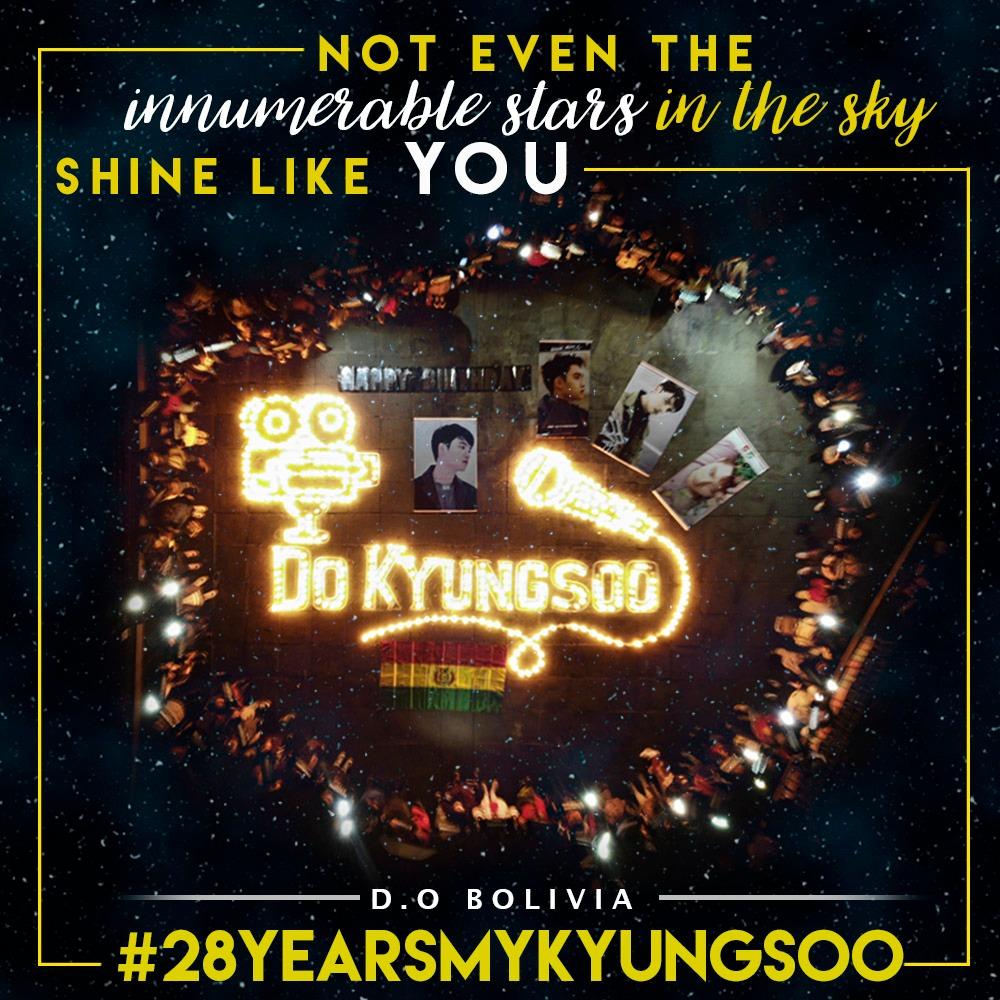 𝙉𝙊𝙏 𝙀𝙑𝙀𝙉 𝙏𝙃𝙀 𝙄𝙉𝙉𝙐𝙈𝙀𝙍𝘼𝘽𝙇𝙀 𝙎𝙏𝘼𝙍𝙎 𝙄𝙉 𝙏𝙃𝙀 𝙎𝙆𝙔 𝙎𝙃𝙄𝙉𝙀 𝙇𝙄𝙆𝙀 𝙔𝙊𝙐    Happy Birthday Do KyungSoo    #28YearsMyKyungsoo   [D.O. BOLIVIA]  <br>http://pic.twitter.com/Gq2LqpvmBA