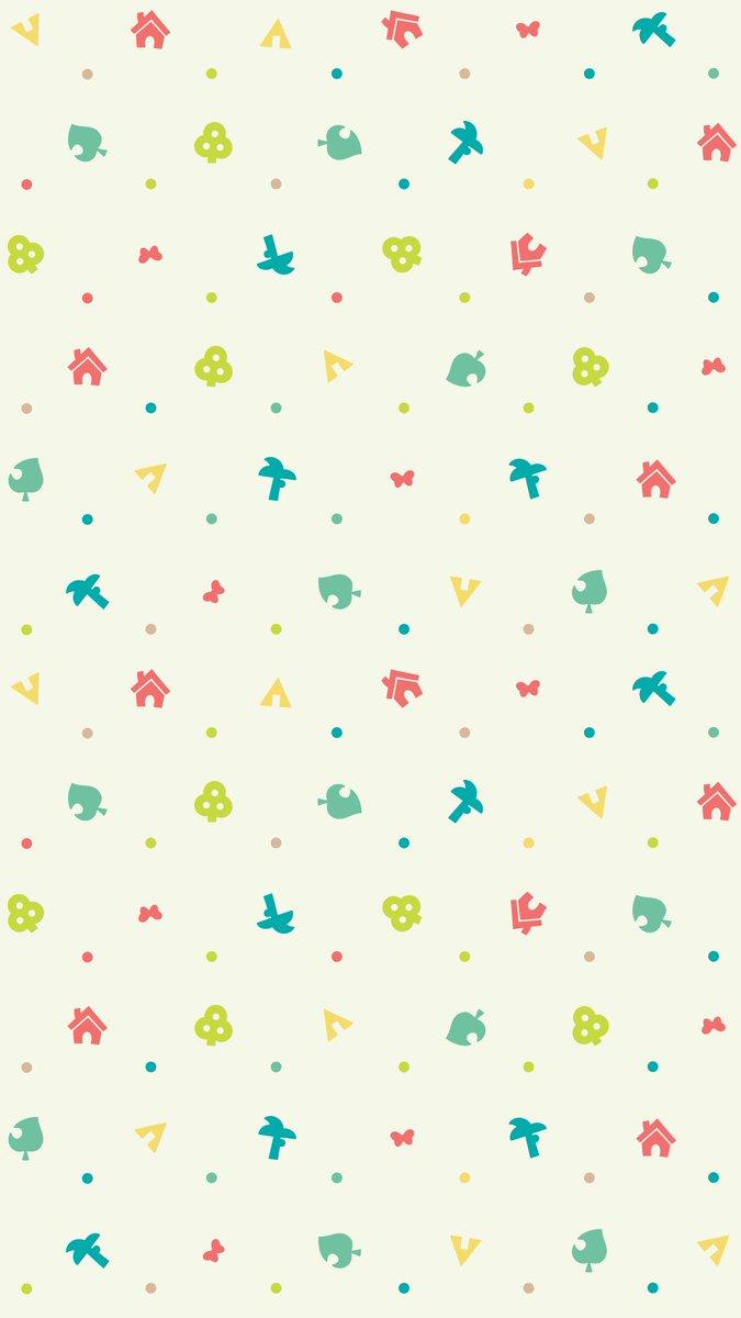 background animal crossing leaf pattern