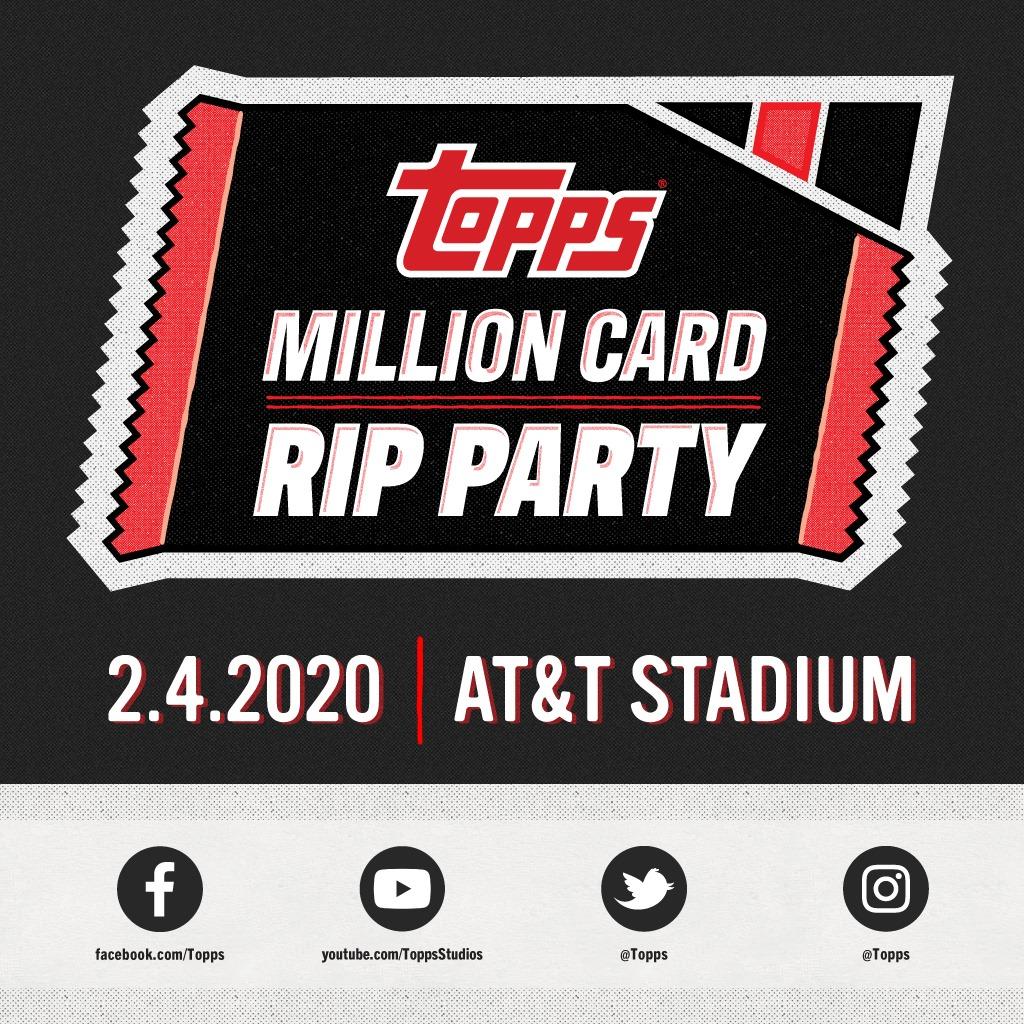 @Topps Let the countdown begin! 24 days until we gather in Texas for the Million Card Rip Party and make history!  #Topps #toppsbaseball #thehobby #shipthebase #2020topps #cardbreaks #casebreaks #baseballcards #baseballbreaks #BaseBallpic.twitter.com/SLA6lKt85O