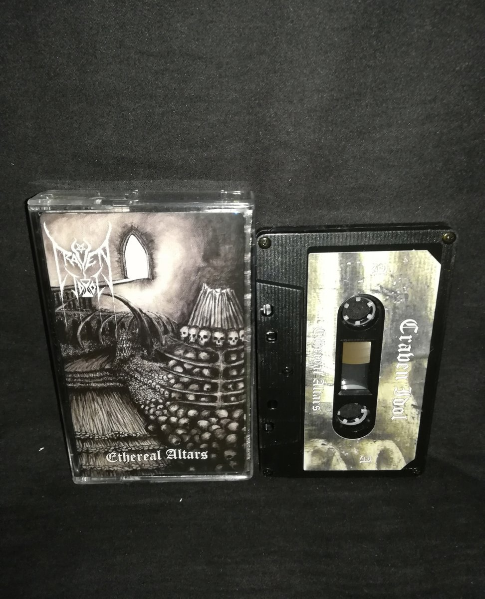 "#CravenIdol #England ""Ethereal Altars""   4€+postage⁠ ⁠ warproductions@gmail.com⁠  http://www.war-productions.org   #WarProductions⁠ #Mailorder⁠ #SupportTheUnderground⁠ #BlackMetalTapes #TapeKvlt⁠ #TapeFormat #TapePorn #BlackMetalCollection pic.twitter.com/msFTAOd93O"