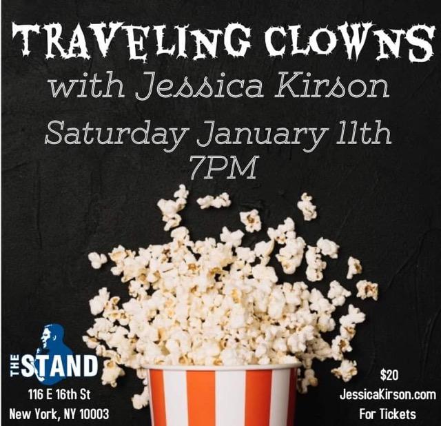 7PM TONIGHT @JessicaKirson PRESENTS TRAVELING CLOWNS 🎟️🎟️🎟️ thestandnyc.com/shows/show/157…