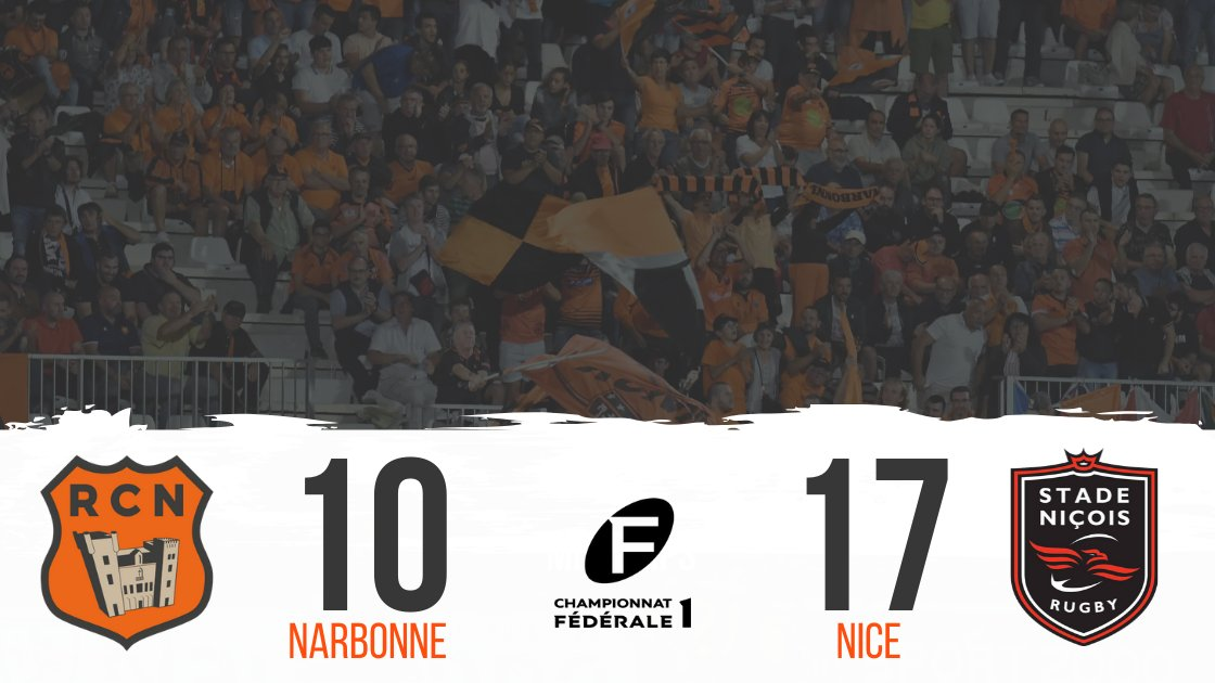 A la mi-temps, le RC Narbonnais est mené sur le score de 10-17...